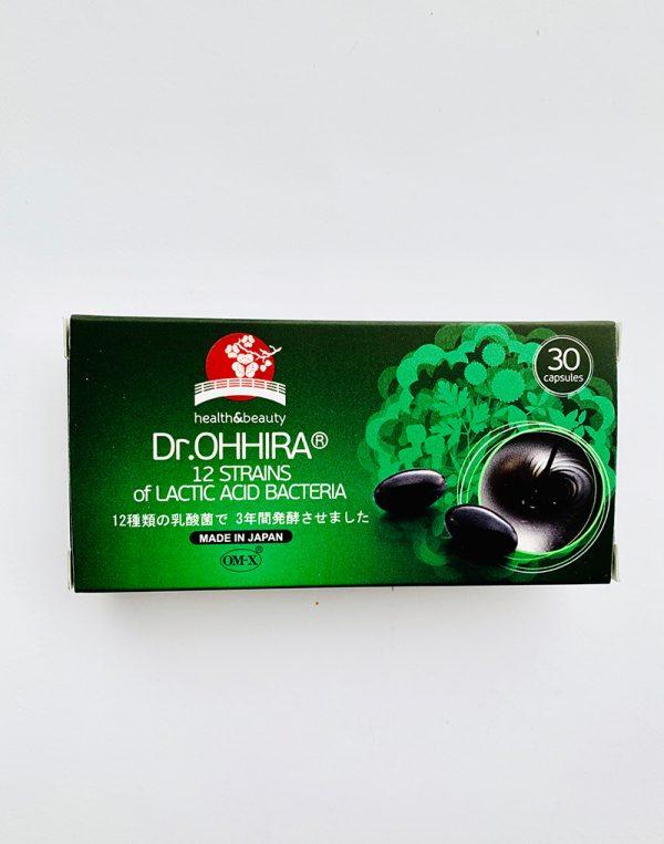 Dr.OHHIRA® 12 rūšių pieno rūgšties bakterijų kompleksas, 30 kaps.