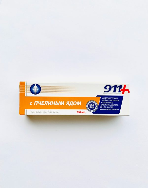 911 gelis - balzamas kūnui S PCELINYM JADOM 100 ml.