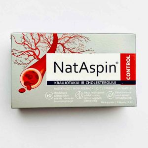 NatAspin Control Kraujotakai ir Cholesteroliui 30 kaps.