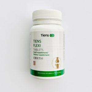 TIENS tabletės FLEXI (su gliukozaminu ir migdolinių pievagrybių ekstraktu), 60 tabl. x 700 mg.