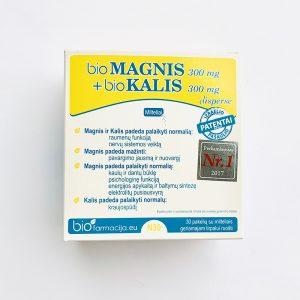 bioMAGNIS 300mg + bioKALIS 300 mg x 30 pakelių