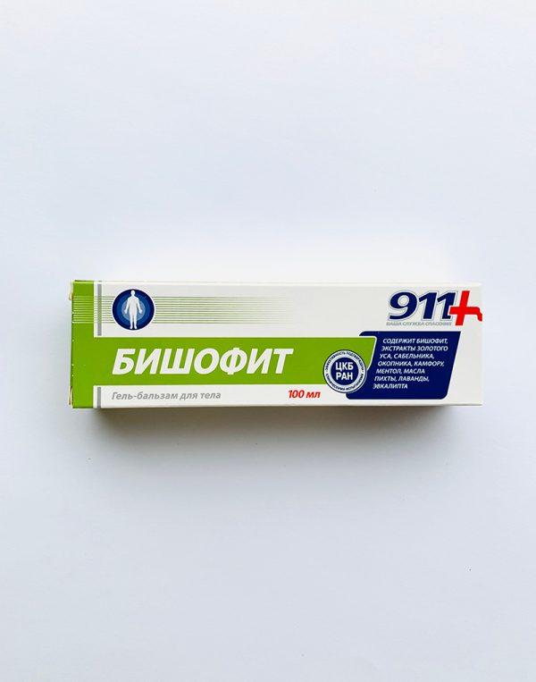 911 gelis - balzamas kūnui S BIŠOFITOM 100 ml.