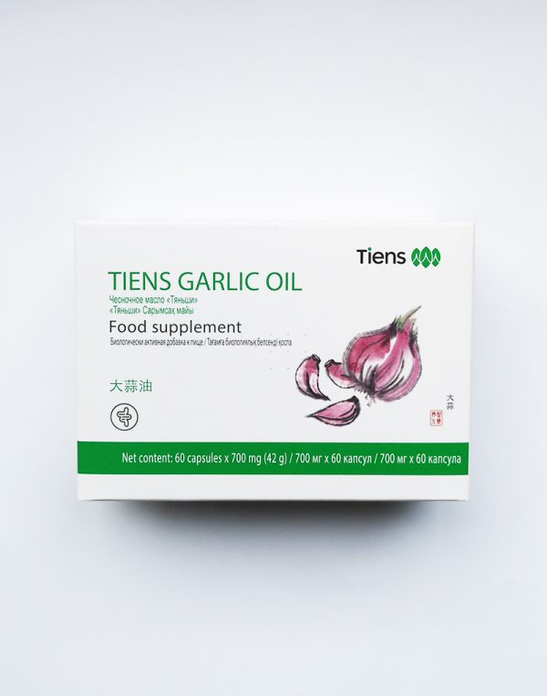 "Kapsulės su česnako aliejumi ""GARLIC OIL"" 60 x 700 mg."