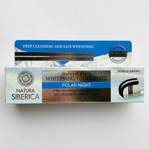 Natura Siberica juoda balinanti dantų pasta 100 g.