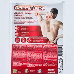 Reumaplast+ Capsicum, Kamparas ir Mentolis