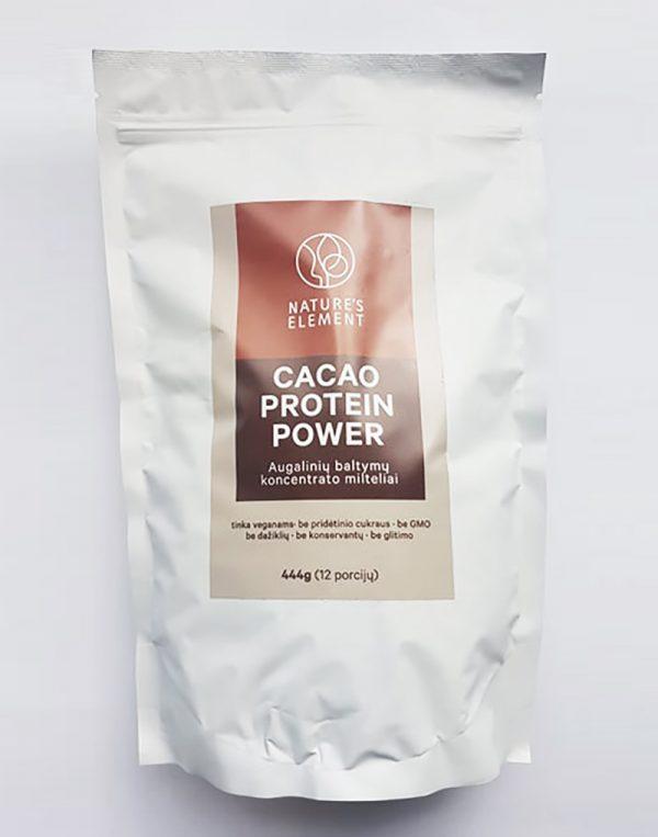 Augalinių baltymų koncentrato milteliai kakavos skonio 444g (12 porcijų)