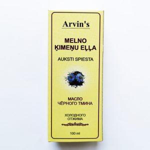 Juodgrūdžių Kalonji (juodųjų indiškų kmynų) aliejus, Arvins, 100ml